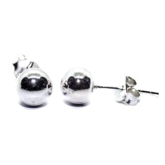 6mm sterling silver ball earrings