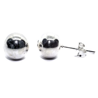 8mm sterling silver ball earrings