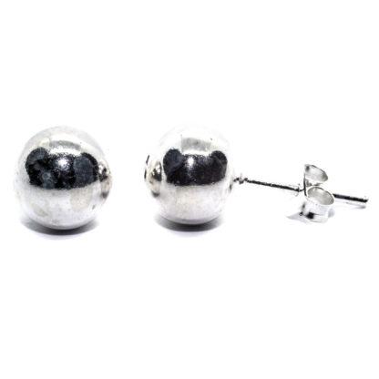8mm sterling silver ball earrings