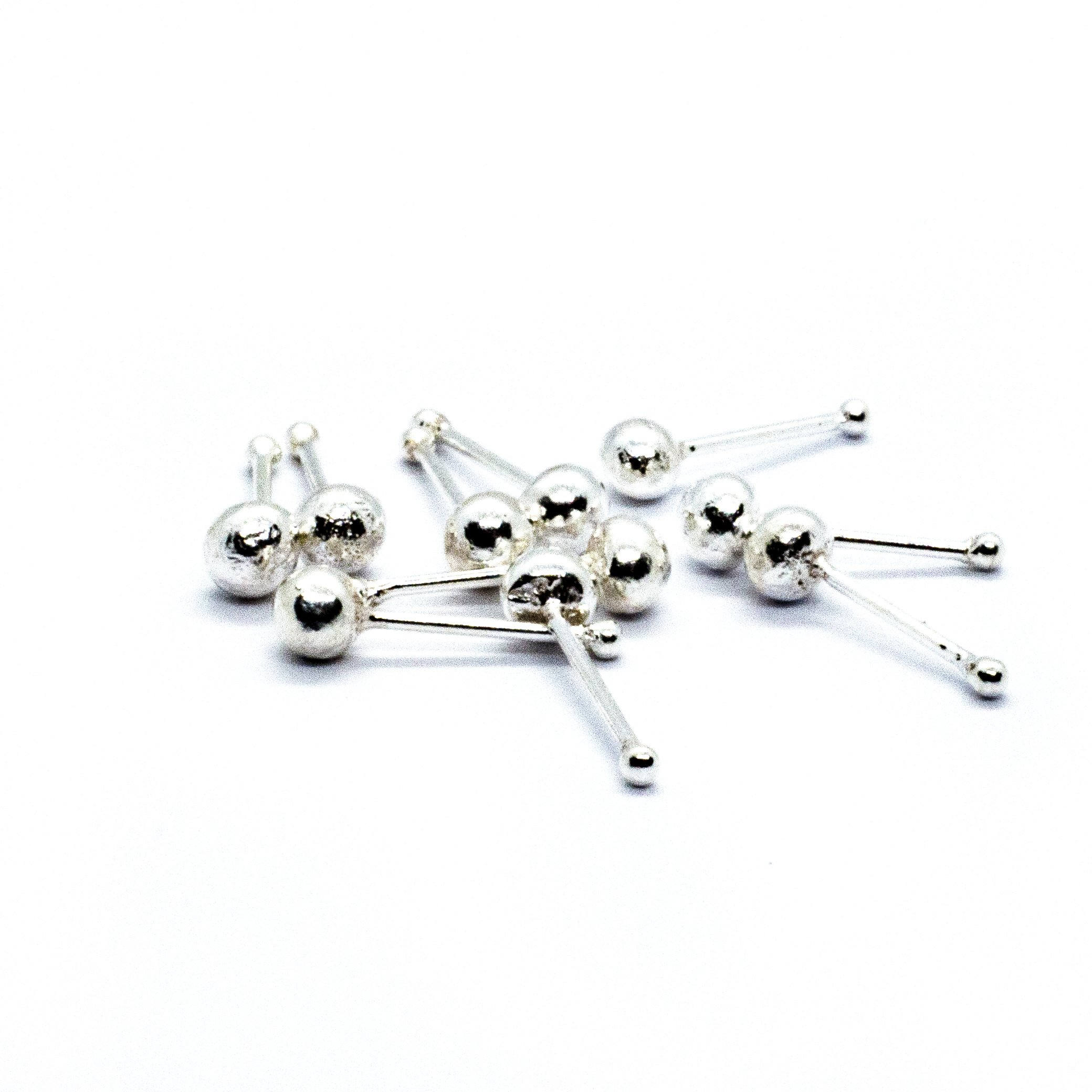 Silver nose stud ball pack 10 alt 3