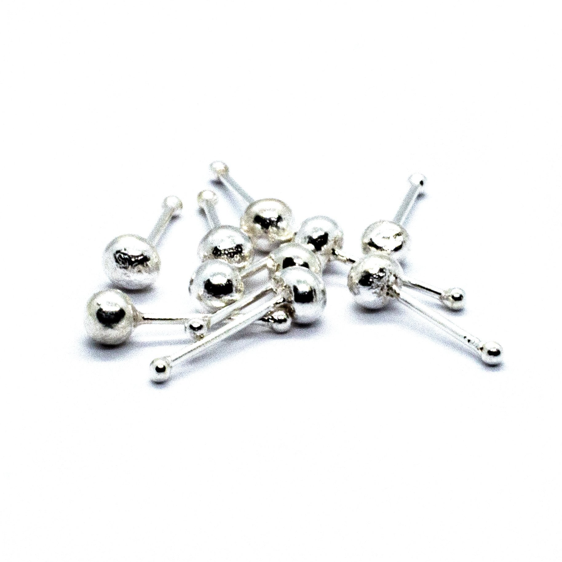 Silver nose stud ball pack 10 alt 4