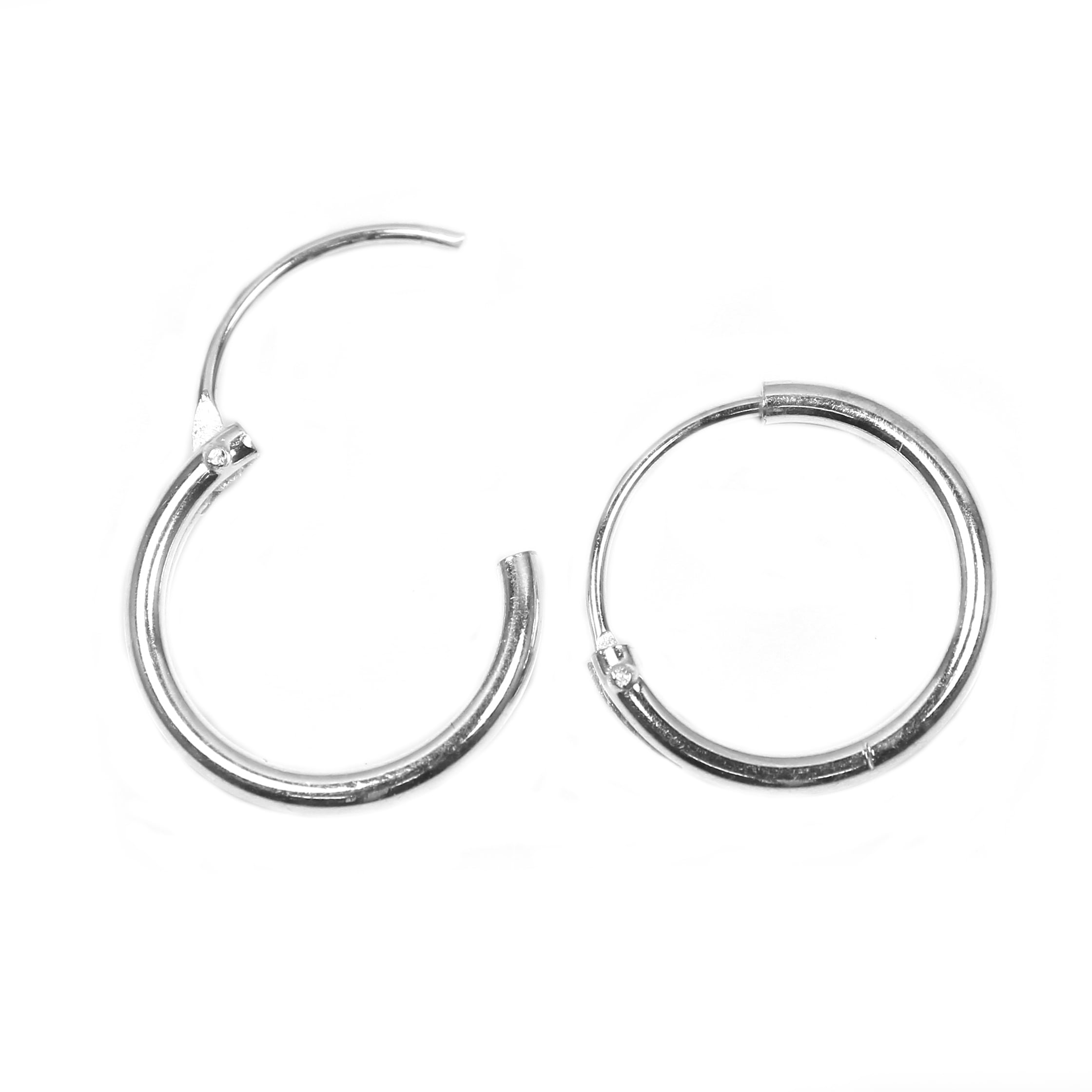 Sterling silver hoop earring 10 mm across