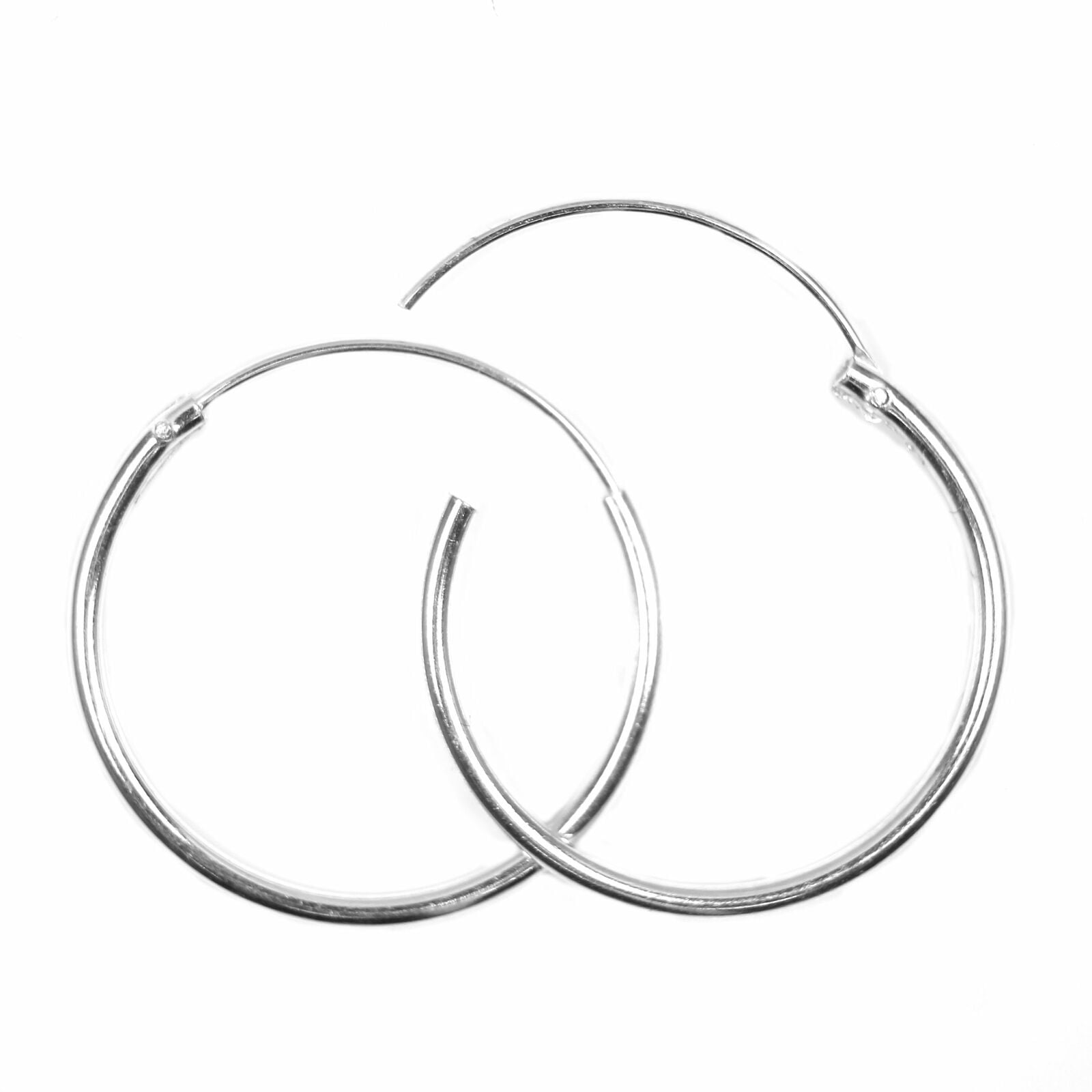 Sterling silver hoop earrings 20mm across with hinge