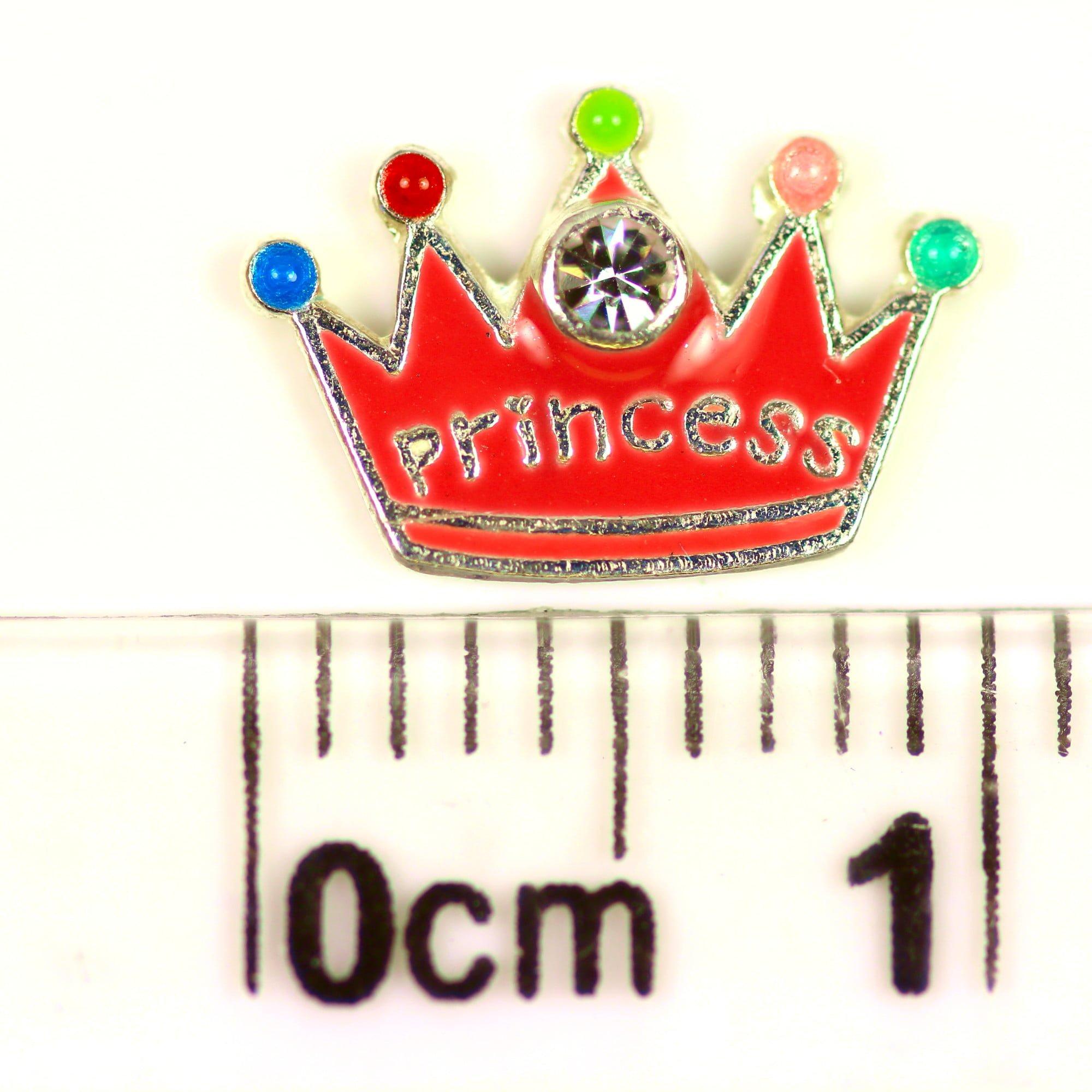 Princess crown earrings in sterling silver ruler