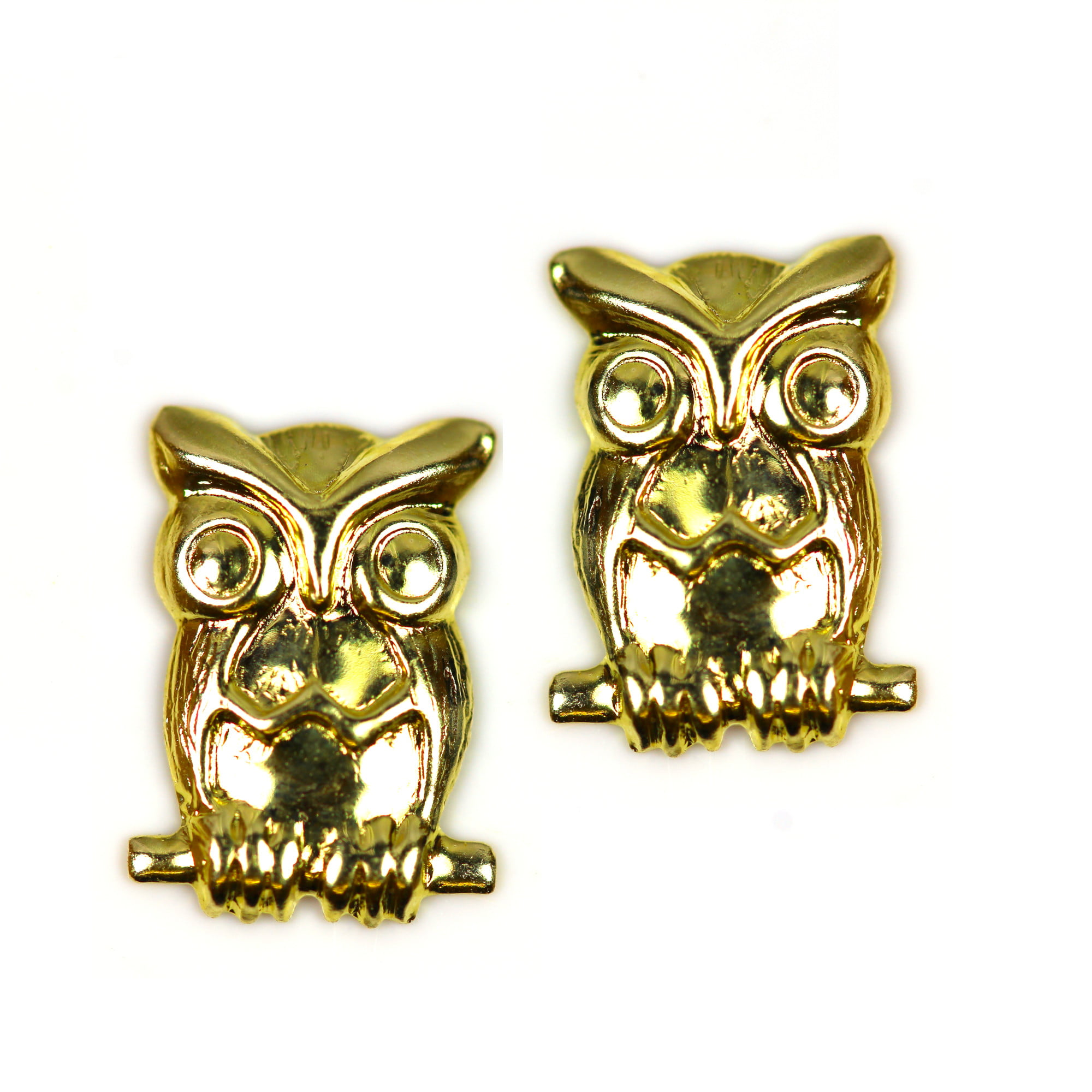 Owl earrings in 9ct gold