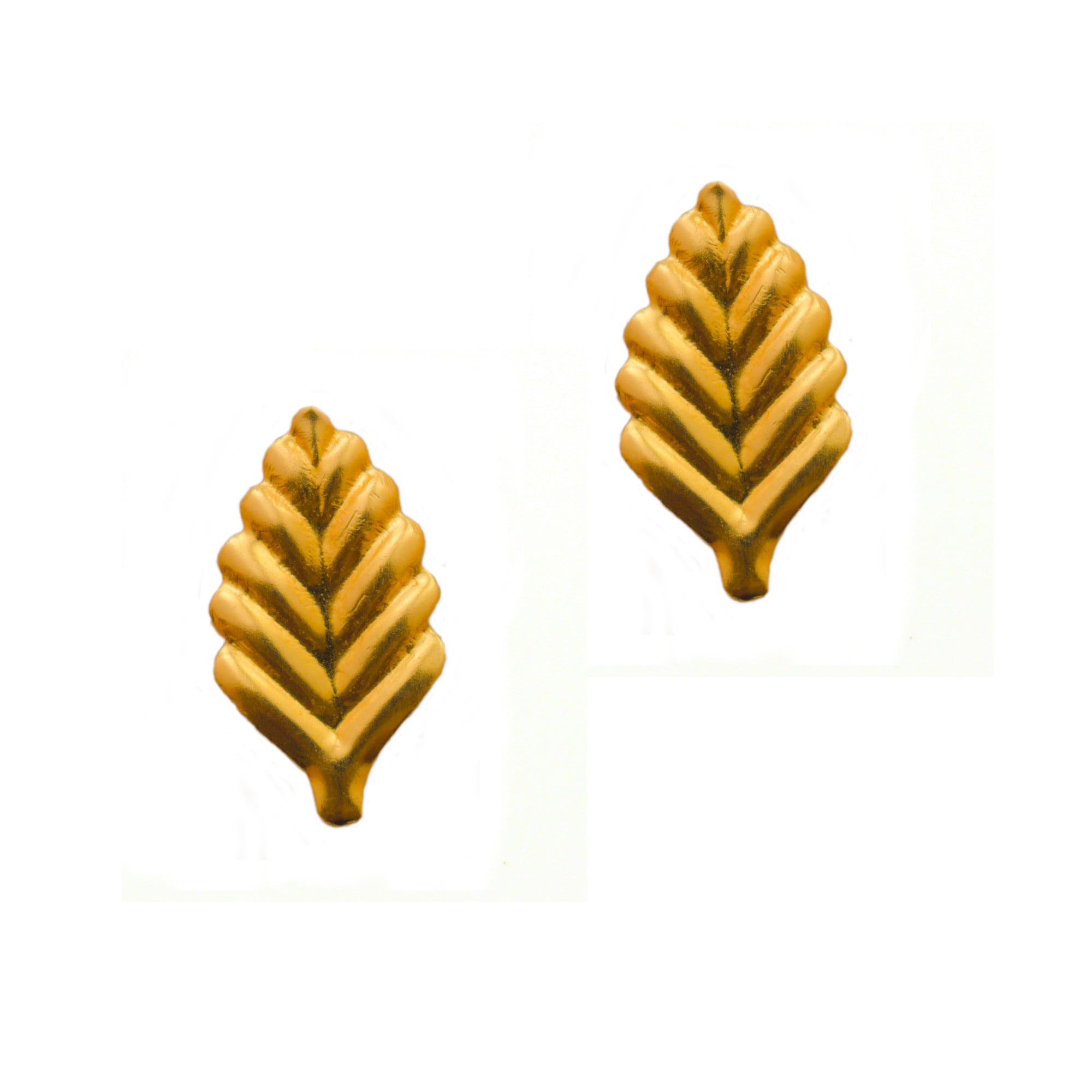 Leaf earrings in 9ct yellow gold