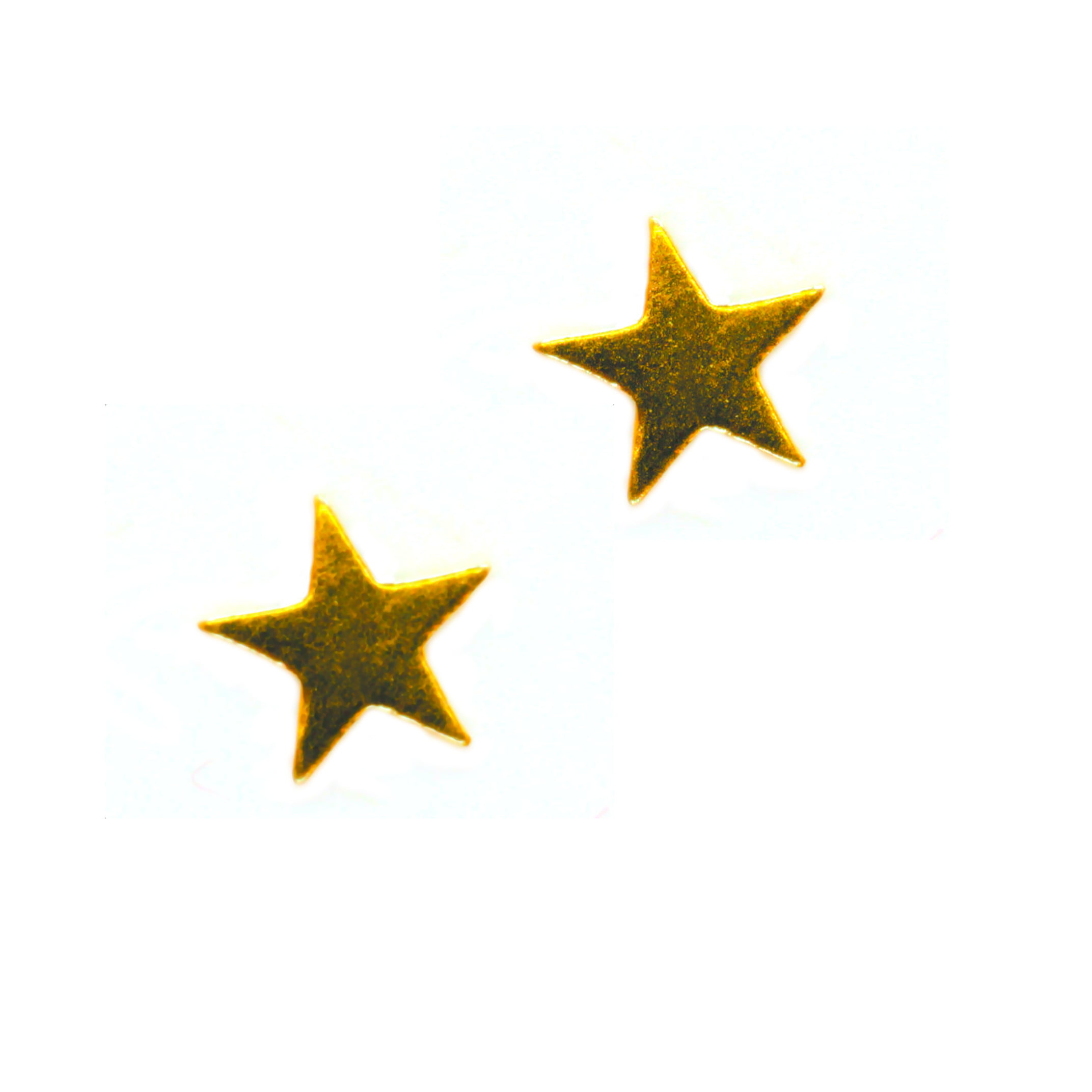 Small star earrings in 9ct yellow gold