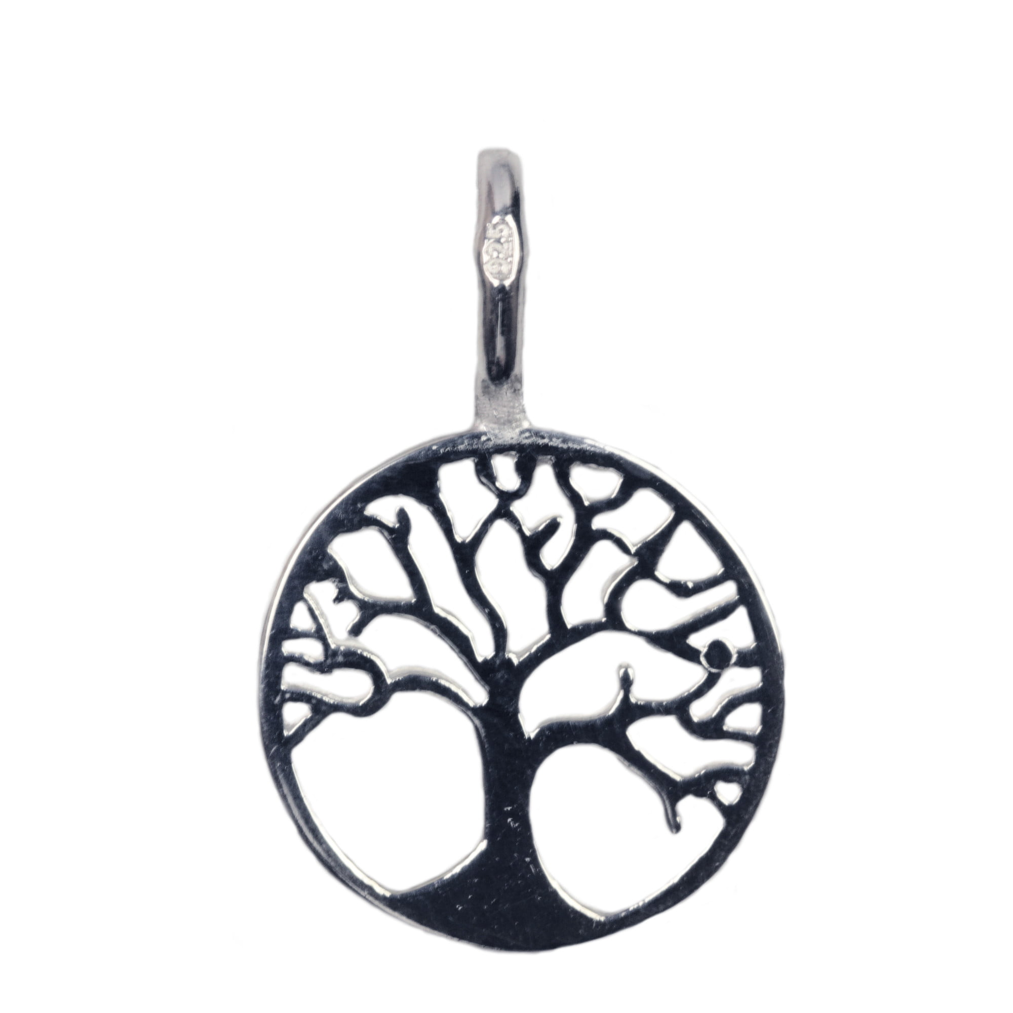 Tree of life charm pendant in sterling silver