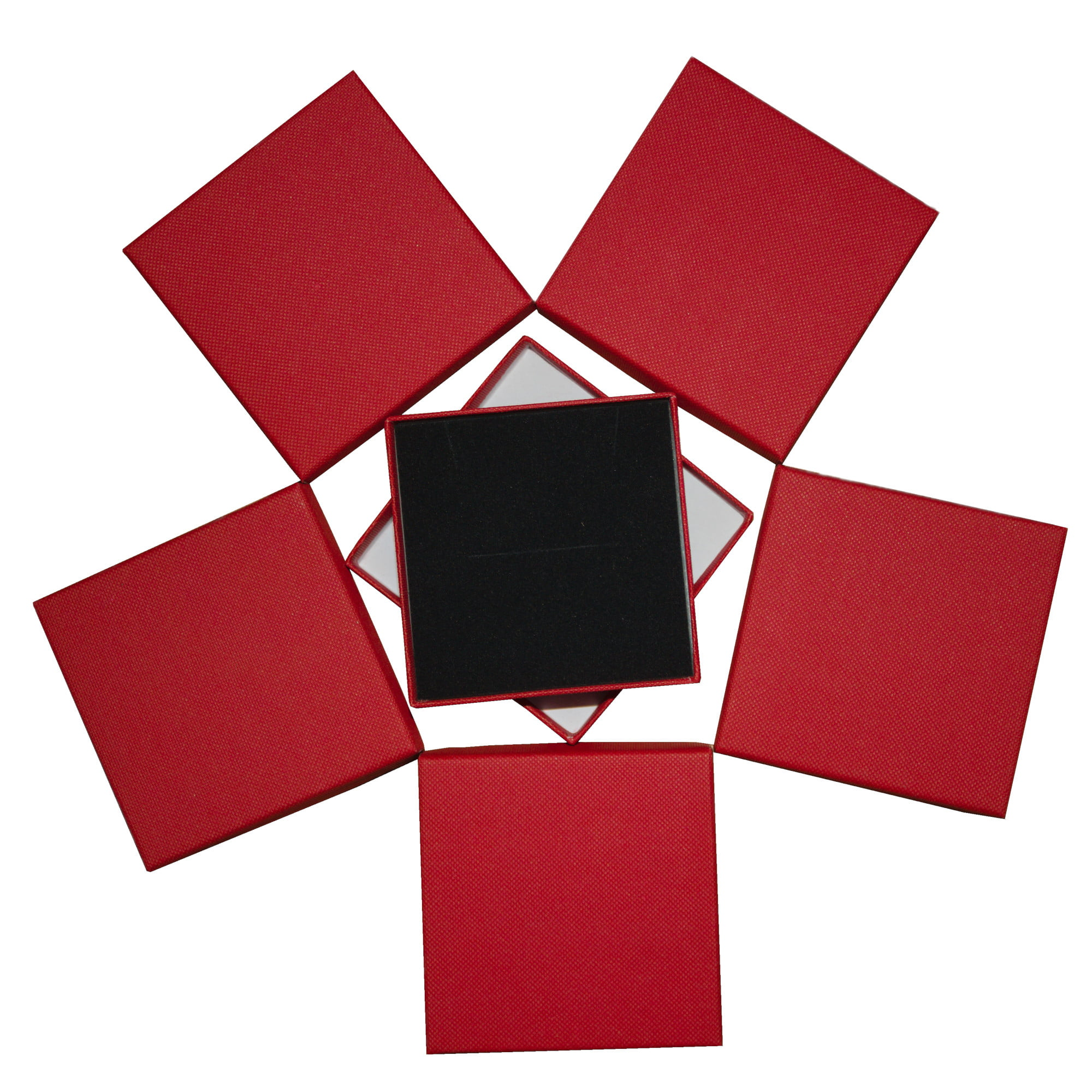 Red square cardboard gift box