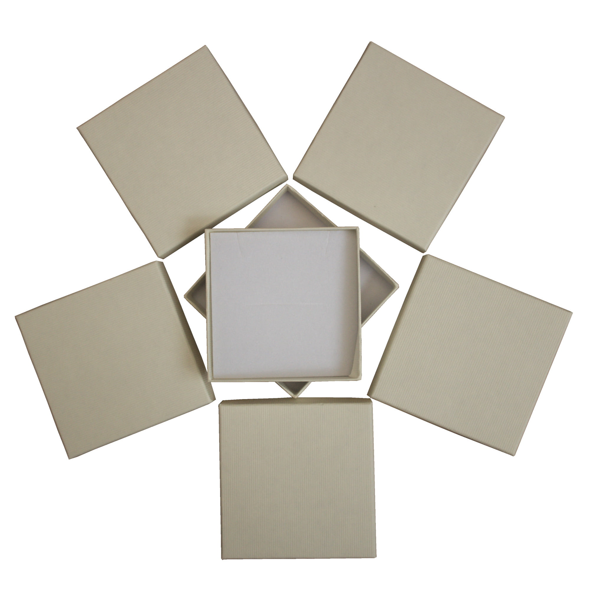 Cream square cardboard gift box