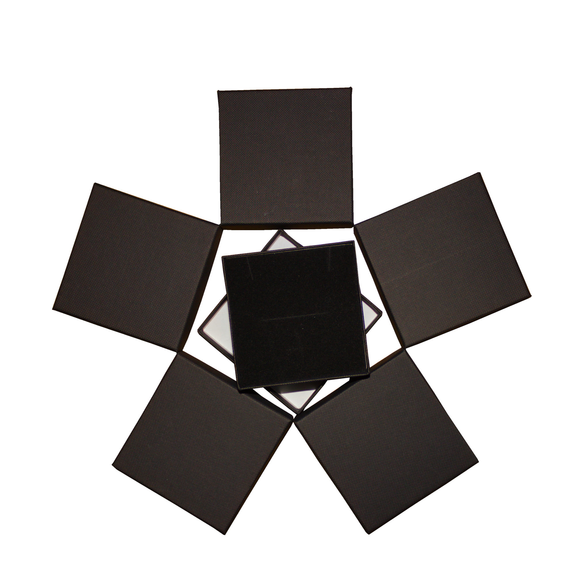 Black square cardboard gift box