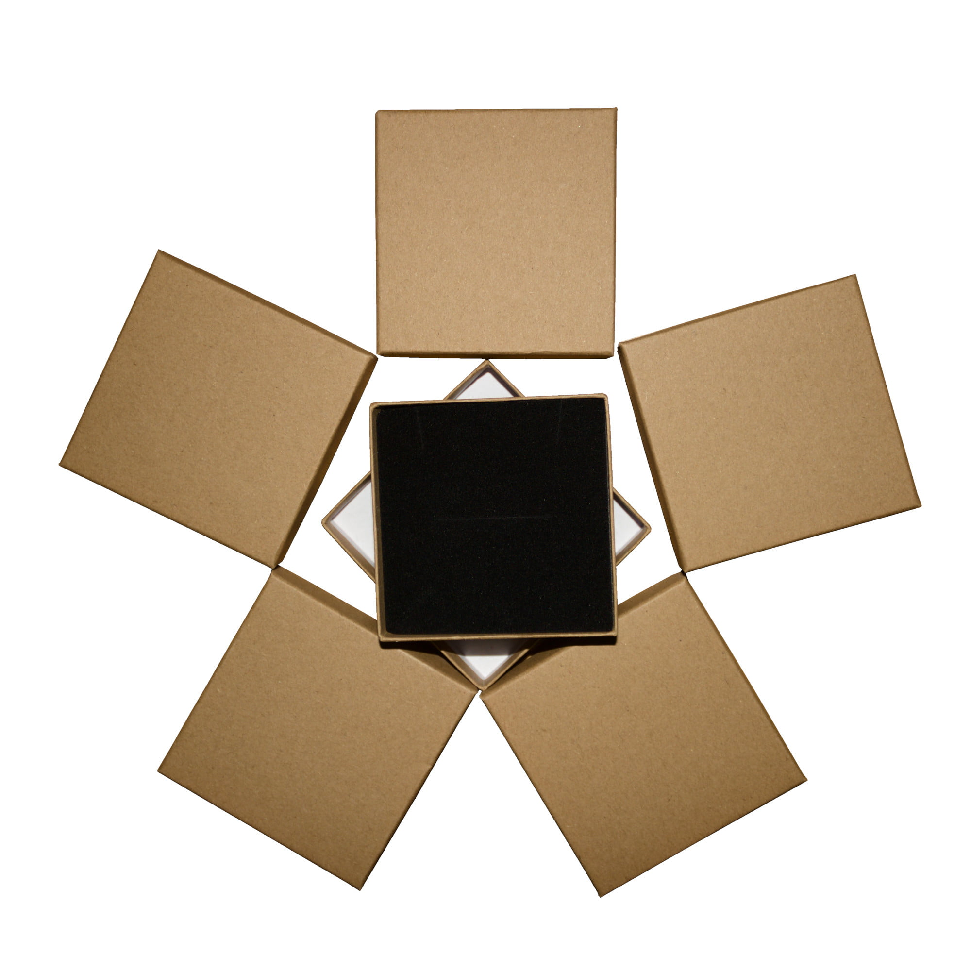 Brown square cardboard gift box