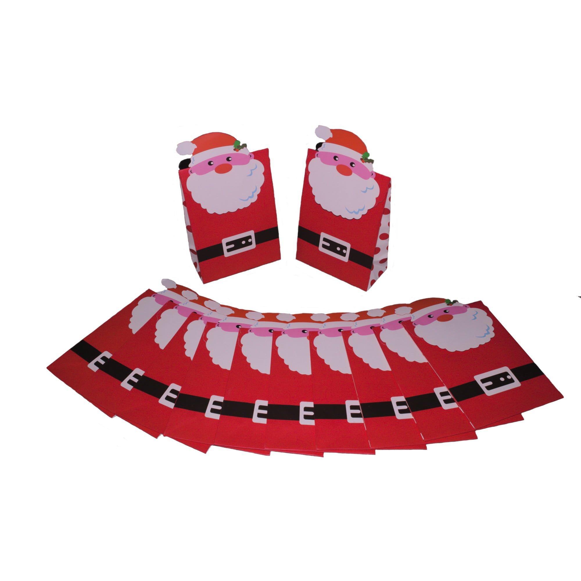 Santa christmas gift bags (pack of 6)