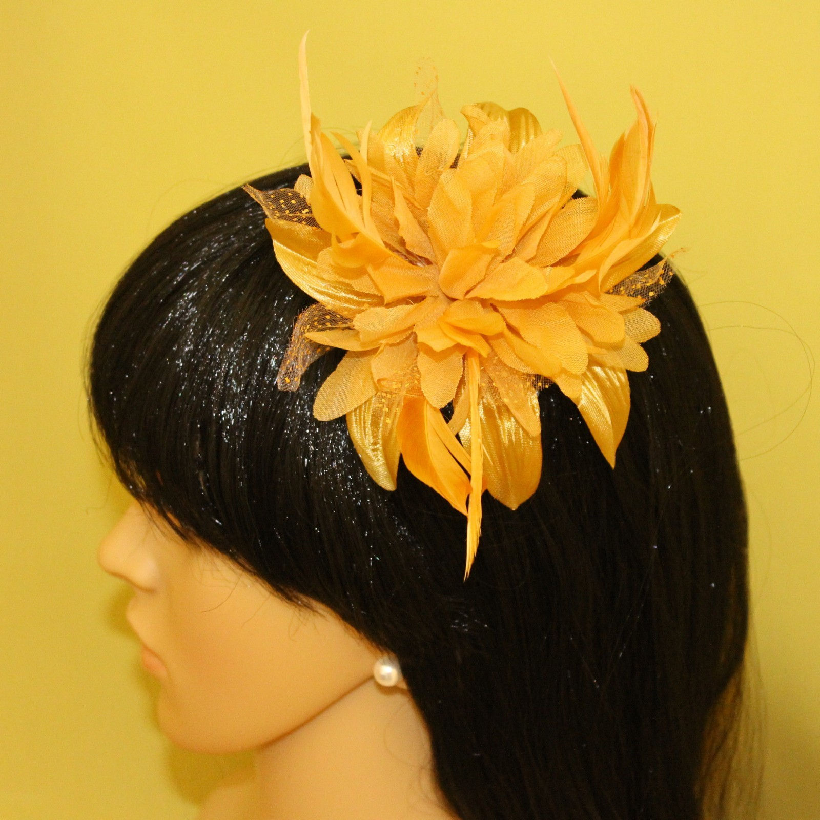 how to make a feather fascinator comb