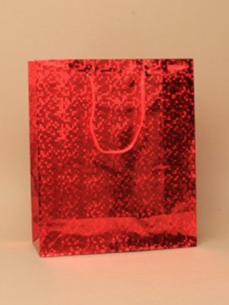Christmas Bags In Bulk.12 Pack Gift Bags Holographic Foil Party Weddings Presents Christmas Bulk Buy Red Med H21 5xw18xd7 5cm
