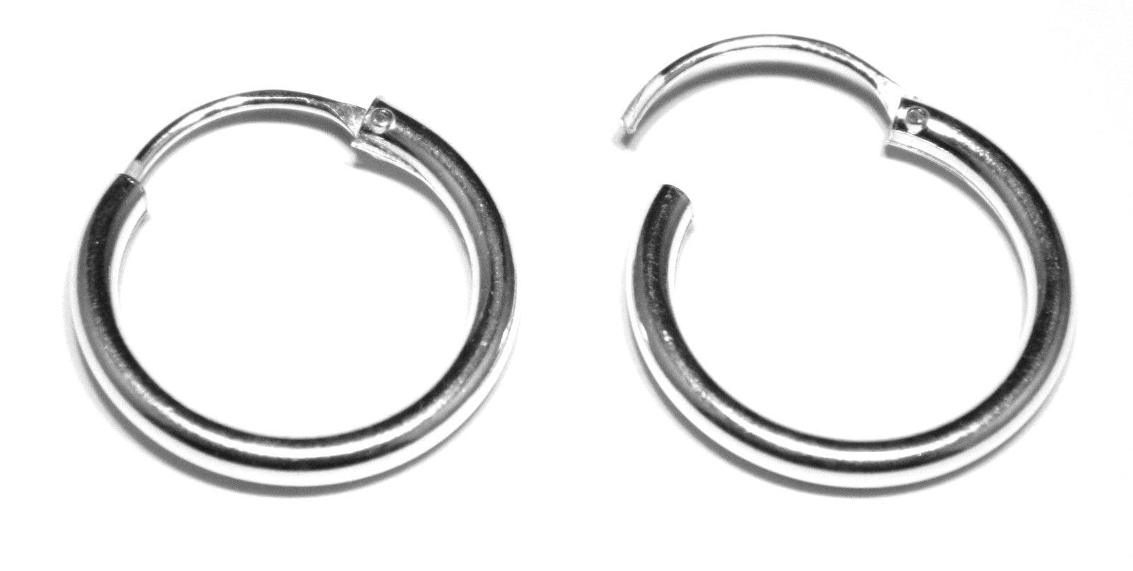 ebdbb968ec673e 16 mm hinged sleeper hoop earrings in sterling silver heavy weight