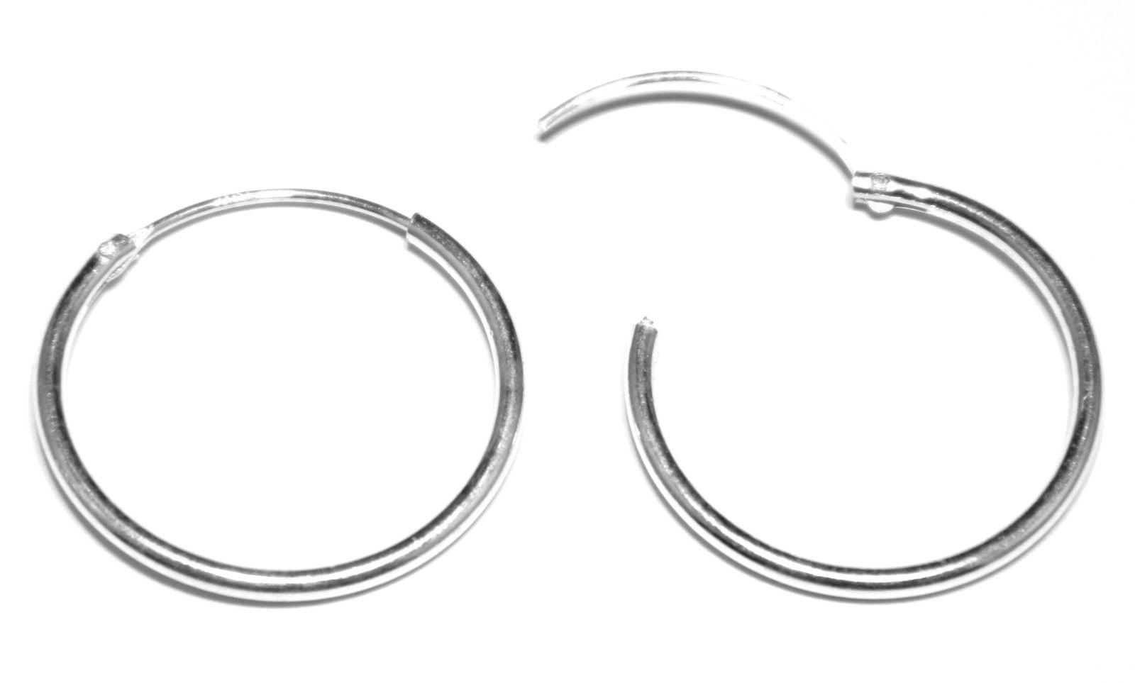 0813563b7 18 mm hinged sleeper hoop earrings in sterling silver medium weight