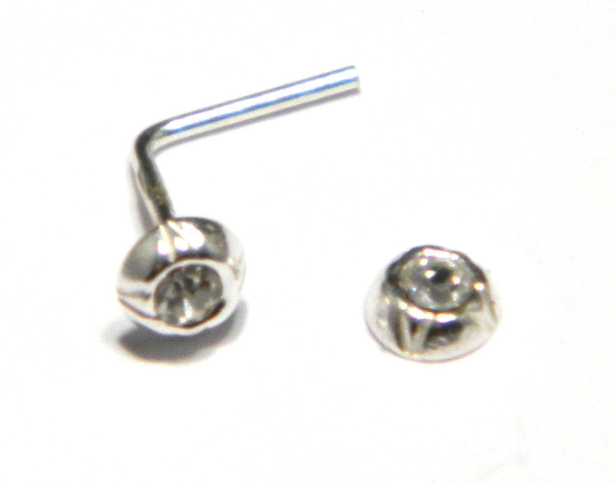 2 mm round austrian crystal inset in 925 sterling silver. Black Bedroom Furniture Sets. Home Design Ideas