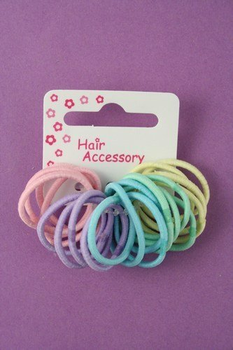 20 pack in pastel small and thin hair elastics  00e45735821