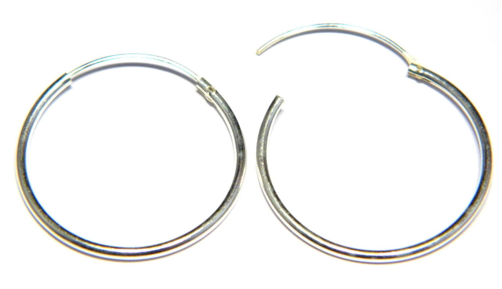926968617 22 mm hinged sleeper hoop earrings in sterling silver medium weight