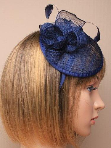 Large Navy Blue Hat Fascinator Weddings Las Day Race Royal Ascot Allsorts