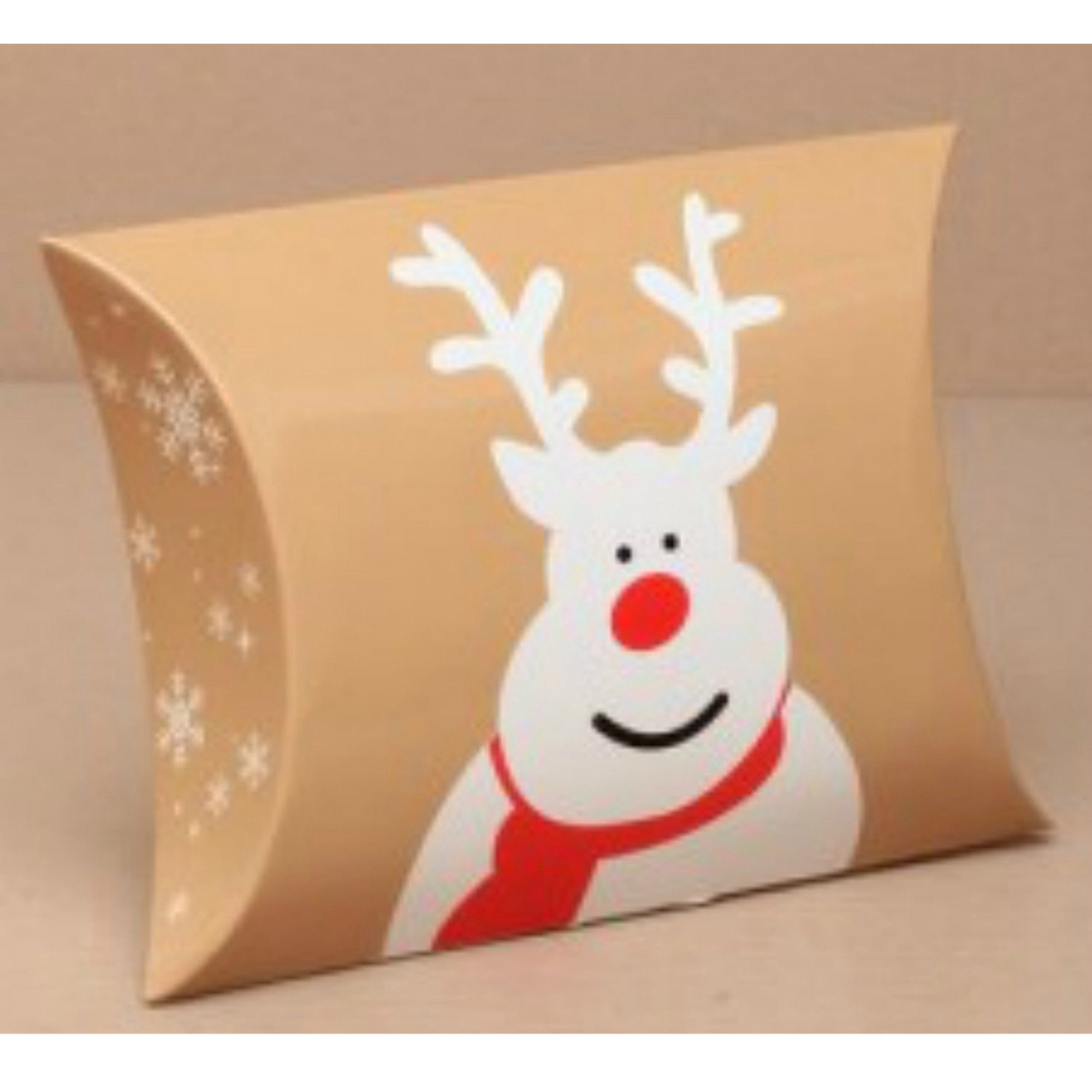 12 small rudolph pillow boxes christmas design for gifts, wedding favours, etc
