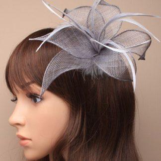 Arranview 5307-2 silver grey fascinator