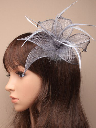 Arranview 5307-2 silver grey fascinator