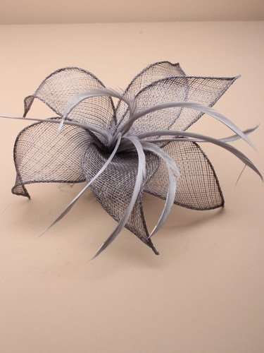 Arranview 5307 silver grey fascinator
