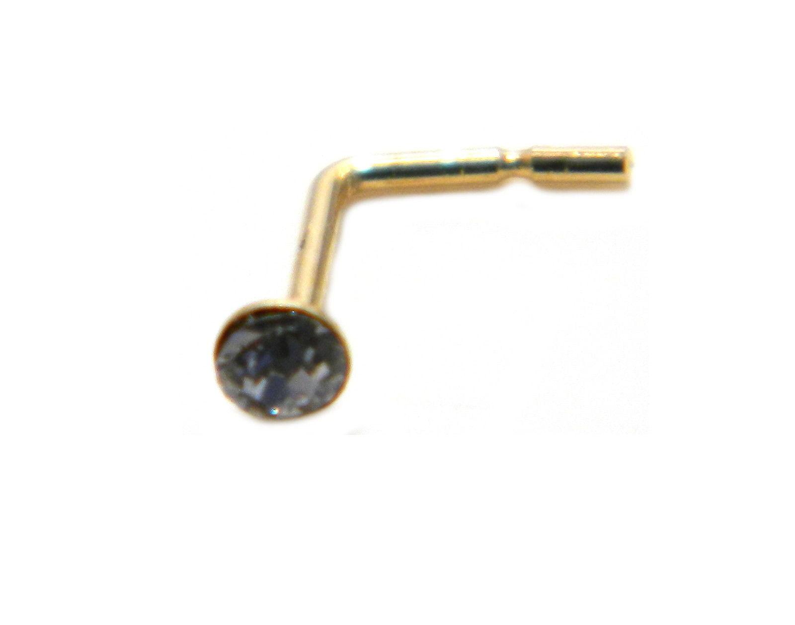 arranview jewellery 2 mm clear austrian crystal nose stud. Black Bedroom Furniture Sets. Home Design Ideas