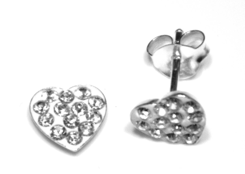 Arranview Jewellery Open Heart Stud Earring - 925 Sterling Silver DPoPfCHe