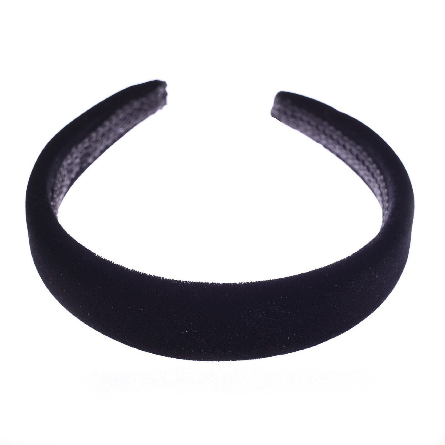 Black headband with padded velvet alice hair band. 2696f30d5f8