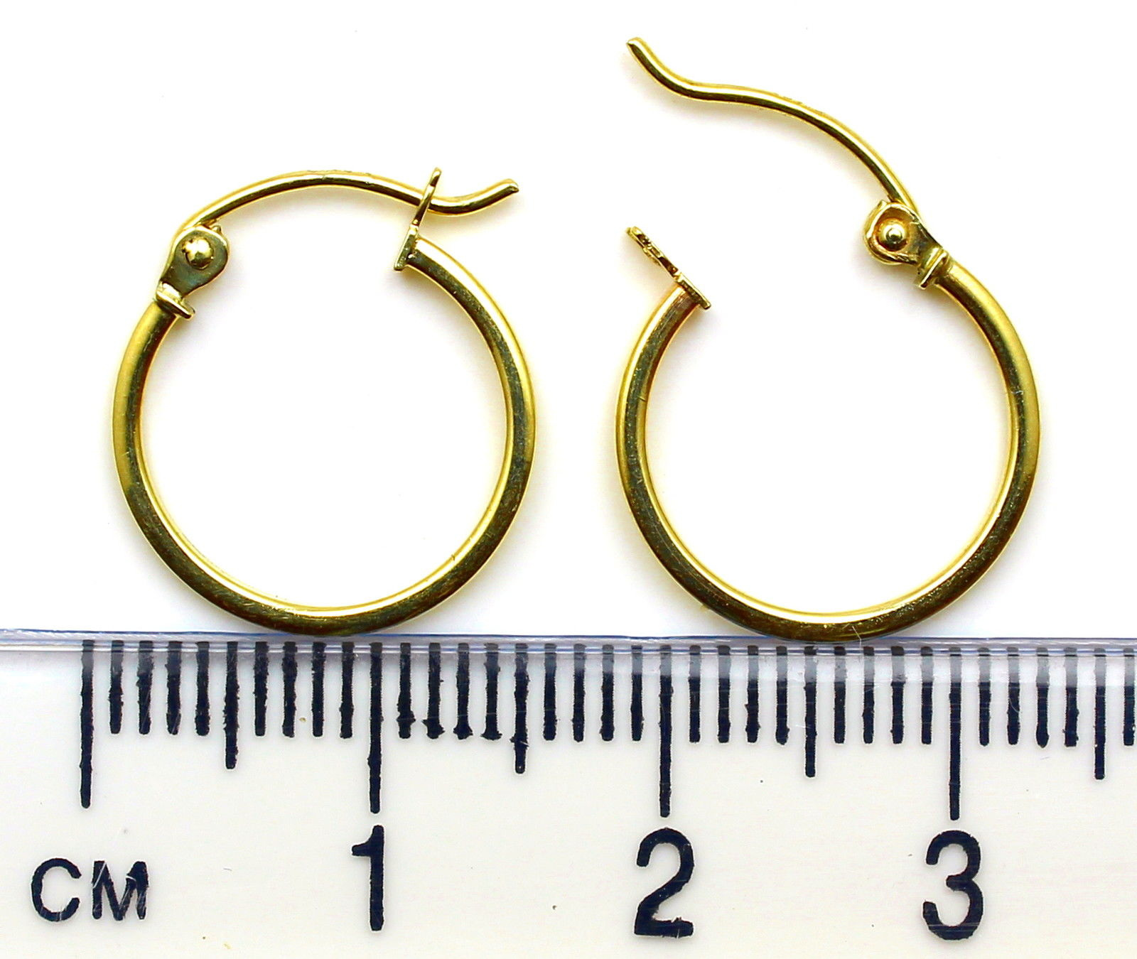 Arranview Jewellery Gold Hinged Heavy Weight Hoop Earring (15mm) - 375 9ct Yellow Gold 9n1RRY0