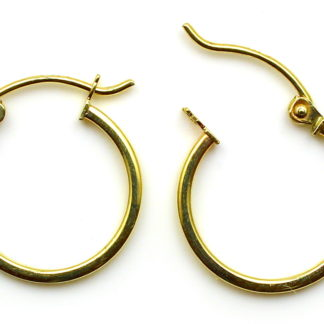 9ct Yellow Gold Hoop Earrings Arran View