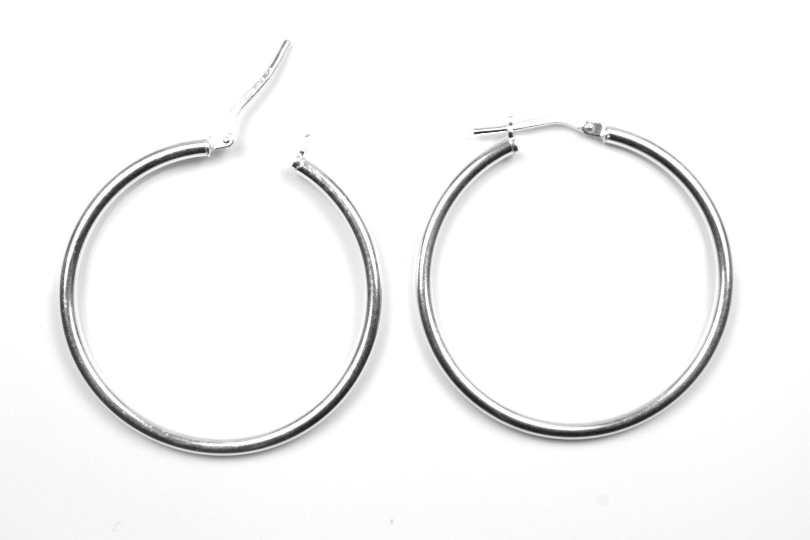 Arranview Jewellery Silver Hinged Heavy Weight Hoop Sleeper Earring (14mm) - Sterling Silver PTQQLVeU3b