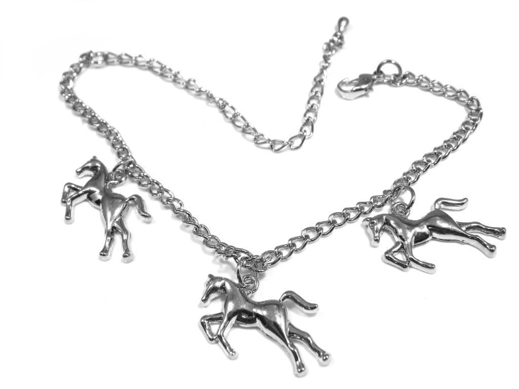 Horse Riding Theme Charm Bracelet With 3 Charms